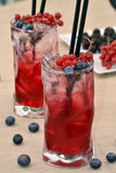 Forest fruit cocktails. Royalty Free Stock Photography