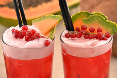 Forest fruit cocktails. Royalty Free Stock Photo