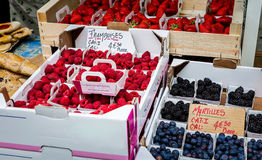 Forest fruit market Royalty Free Stock Photography