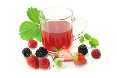 Forest fruit tea Royalty Free Stock Photos