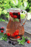 Forest fruits juice Stock Photos