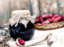 Forest fruits syrup Stock Photo