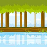 Forest Game Background Image libre de droits