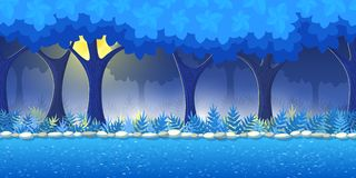 Forest Game Background Stock Images