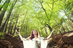 Forest girl Royalty Free Stock Photography