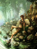 Forest Girl Stockbild