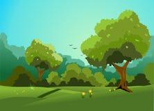 Forest Glade Royaltyfri Illustrationer