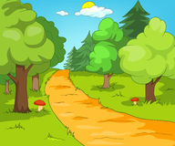 Forest Glade. Cartoon Background. Vector Illustration EPS 10 Stock Photography