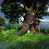 Forest gnome house Royalty Free Stock Image