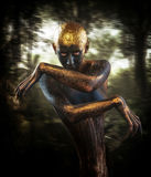 Forest guardian. Fantasy style portrait Stock Photos