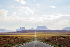Forest Gump Point Monument Valley scenic panorama on the road - Arizona, AZ Stock Photography