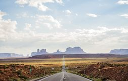 Forest Gump Point Monument Valley scenic panorama on the road - Arizona, AZ Stock Photos