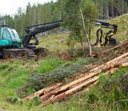 Forest harvester Royalty Free Stock Photography