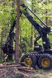 Forest Harvester en la acción fotos de archivo libres de regalías