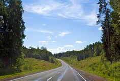 Forest Highway Royalty Free Stock Image