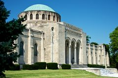 Forest Hill Abbey in Kansas City. Forest Hill Abbey located in the Forest Hill & Calvary Cemetery in Kansas City Missouri taken on 6/22/12 Royalty Free Stock Photo