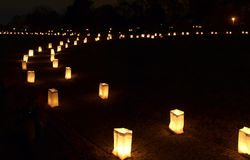 Forest Hill Luminaries Royalty Free Stock Photo