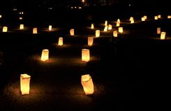 Forest Hill Luminaries Stock Photo