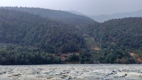 Top view from ajodhya pahar dam. Forest and hill range view from the ajodhya pahar dam Stock Images