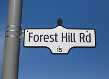 Forest Hill Road Royalty Free Stock Images