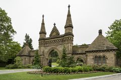Forest Hills Cemetery in Boston Stock Afbeelding