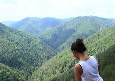 Forest Hills di sorveglianza turistico nel paradiso slovacco Immagine Stock Libera da Diritti
