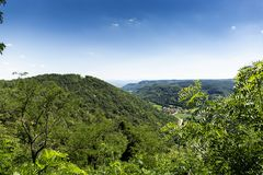 Forest hills in lower Austria. stock image