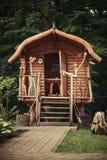 Forest House i den ukrainska stilen Arkivbilder
