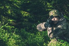 Forest Hunter Royalty Free Stock Photography