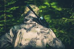 Forest Hunting For Wilidlife Royalty Free Stock Images