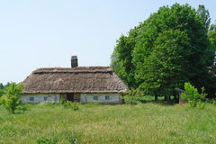 Forest hut. A small house or hut in the meadow Stock Photography
