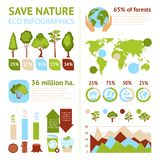 Forest Infographics Set Stock Photo
