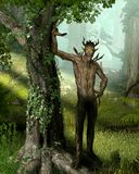 Forest King Elemental Nature Spirit. An ancient elemental spirit, the forest king, who dwells deep within the forest keeping all of nature in harmony, 3d render royalty free illustration