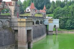 The Forest Kingdom is a reservoir dam on the River Elbe built in. 1920, the Czech Republic Royalty Free Stock Photo