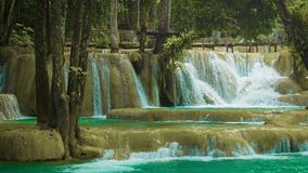 Forest Kouang Si Waterfall, Laos, Luang Prabang Stock Photo