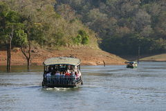 forest lake łódź zdjęcia stock