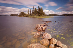 Forest lake in Algonquin Provincial Park, Ontario, Canada Royalty Free Stock Photos