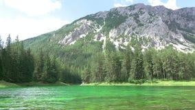 Forest Lake in de Bergen en de Schaduwen van de Wolken Geschoten op Canon 5D Mark II met Eerste l-Lenzen stock video