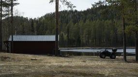 Forest Lake i Sverige Royaltyfri Fotografi