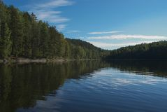 Forest Lake. Karelia stock image