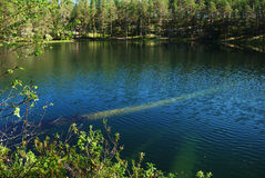 Forest lake of Manamansalo Stock Photos