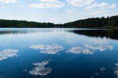 Forest lake in the spring. 2016 stock photography