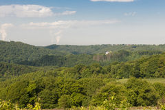 Forest landscape and castle Royalty Free Stock Image