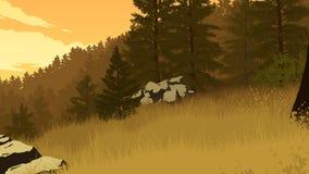 Forest landscape illustration Royalty Free Stock Images