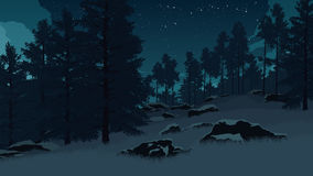 Forest landscape illustration Royalty Free Stock Images
