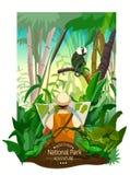 Forest Landscape Poster tropical coloré Photographie stock libre de droits