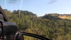 Forest in landscape of river and lake view from above in New Zealand. stock footage
