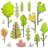 Trees Bush Green Forest Clipart Collection Stock Image