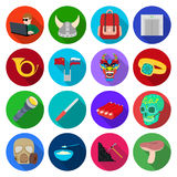 Forest, leisure, hobby and other web icon in flat style.business, tourism, traveland icons in set collection. Stock Photos