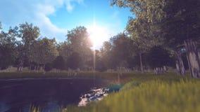 Forest Len-Aufflackern Stockbild